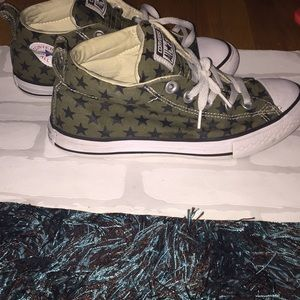 Cute converse all stars. Olive green and black!